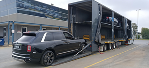 Liftgates Safeloading Black Car In Prixcar Truck